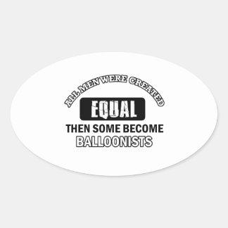 Balloonist designs oval sticker