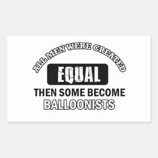 Balloonist designs rectangular sticker