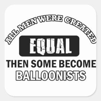 Balloonist designs square sticker