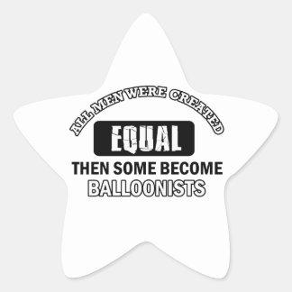 Balloonist designs star sticker