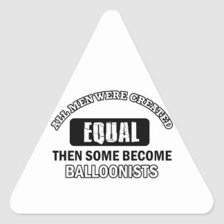 Balloonist designs triangle sticker