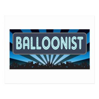 Balloonist Marquee Postcard