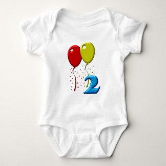 balloons 02 years baby bodysuit