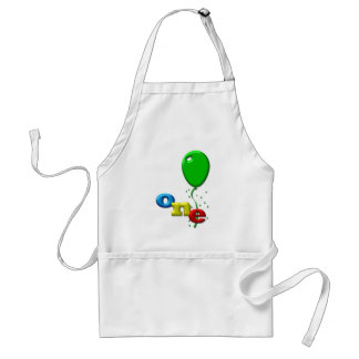 balloons 1 year old adult apron
