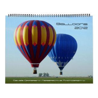 Balloons 2012 calendar