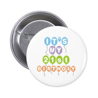 Balloons 21st Birthday Pinback Button
