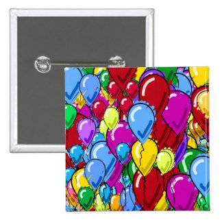 Balloons 2 Inch Square Button