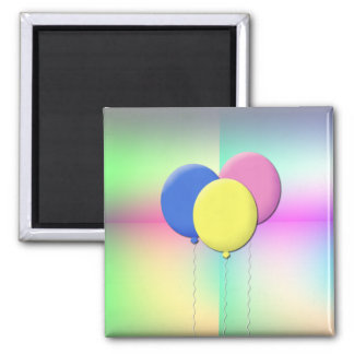 Balloons 2 Inch Square Magnet