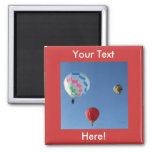 Balloons 3 2 inch square magnet
