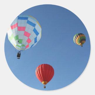 Balloons 3 classic round sticker