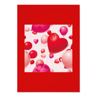 Balloons (4) 5x7 paper invitation card