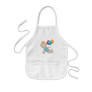 Balloons and Baby boy crawling Kid s apron