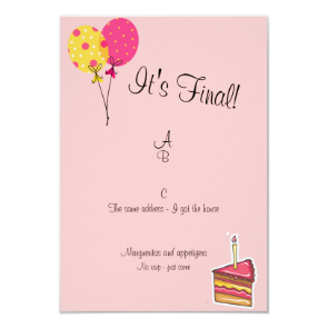 Balloons and Cake Divorce Party Invitation