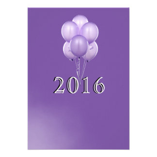 Balloons and Champagne New Years Eve Invitation Card