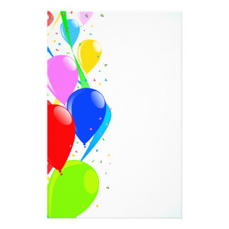 Balloons and Confetti Party Stationery