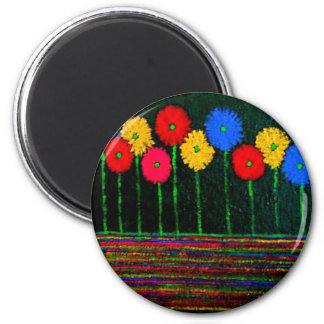 Balloons and Flowers 2 Inch Round Magnet