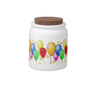 Balloons and Stars ~ Candy Jar