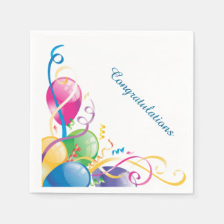 Balloons and Streamers Napkins