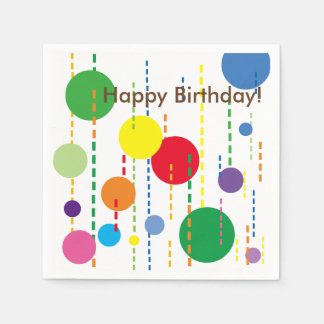 Balloons and Streamers Party Napkin