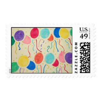 Balloons And Streamers Postage