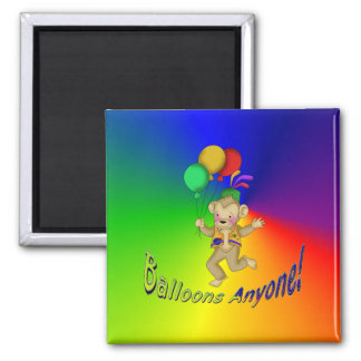 Balloons Anyone 2 Inch Square Magnet