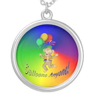 Balloons Anyone Round Pendant Necklace
