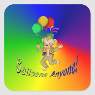 Balloons Anyone Square Sticker
