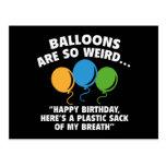 Balloons Are So Weird Postcard