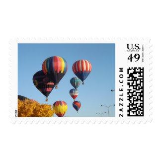 Balloons Arising Postage Stamps