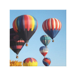 Balloons Arising Wrapped Canvas