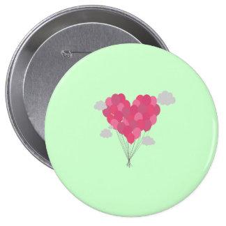 Balloons arranged as heart button