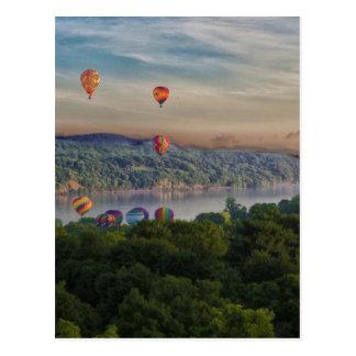 Balloons at Dawn Postcard