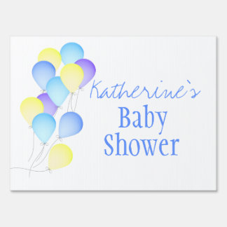 Balloons Baby Shower Lawn Sign