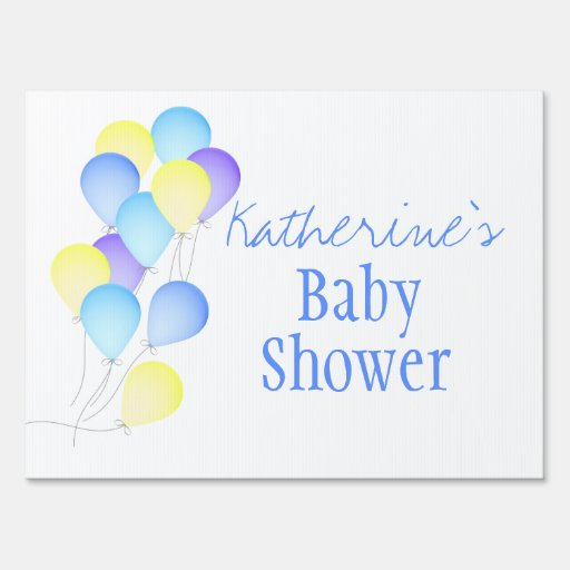 balloons baby shower lawn sign zazzle