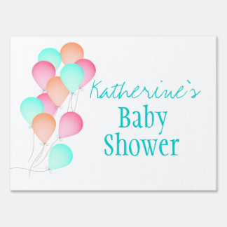 Balloons Baby Shower Sign