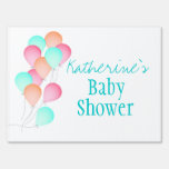 Balloons Baby Shower Yard Signs