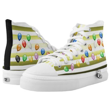 Beach Themed Balloons ~ Beach Party Time ~ Music ~ Swimming ~ High-Top Sneakers