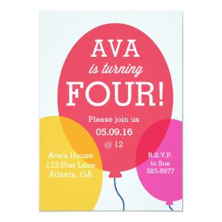 Balloons Birthday Invitation