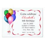 Balloons Birthday Party Invitation