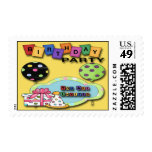 Balloons Birthday Party  Invitation Postage