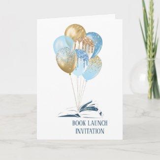 Balloons Book Launch Invitation