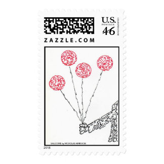 BALLOONS by NICHOLAS MINIFACES Postage Stamps