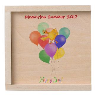 Balloons by The Happy Juul Company Wooden Keepsake Box