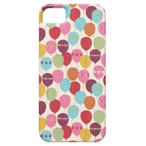 Balloons Celebration/ Chevron/ Bunting iPhone 5 Covers