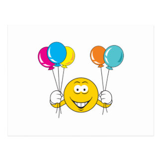 Balloons Celebration Smiley Face Postcards