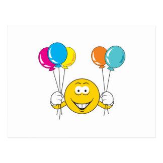 Balloons Celebration Smiley Face Postcard