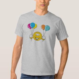 Balloons Celebration Smiley Face T-Shirt