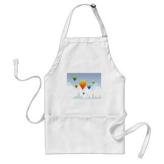 Balloons-&-Cityscape Adult Apron