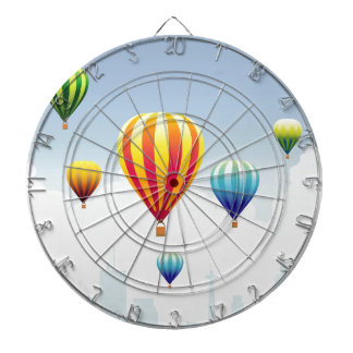 Balloons-&-Cityscape Dartboard