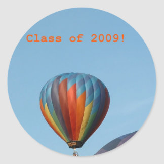 Balloons!  Class of 2009! Classic Round Sticker